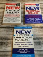Lot of 3 Books on Sales Strategies by Robert B. Miller Paperback