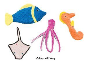 Skinneeez Ocean Dog Toys Colors Vary Choose Stingray Fish Seahorse or Octopus