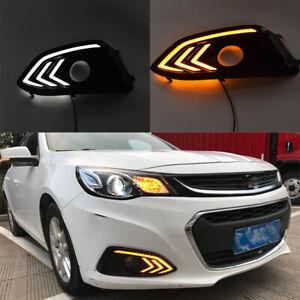 For Chevrolet Malibu 2016 2017 LED Daytime Running Lights DRL Signal Fog Lamps