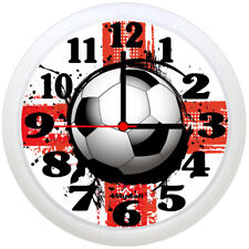 "England Football Clock, Football Wall Clock, 9"" in. (St George's Cross)"