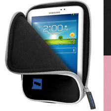 """Nero Neoprene Custodia Case per Samsung Galaxy Tab 3 & 4 7.0"""" SM-T210 T231 Cover"""