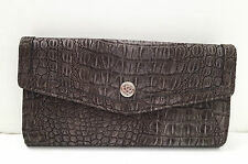 BNWT Authentic RELIC By FOSSIL Dearborn Checkbook Wallet Clutch Grey Croco $40