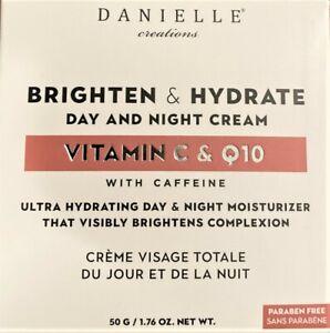 DANIELLE. Brighten & Hydrate Day & Night Cream Vitamin C & Q10. 1.76oz. NEW