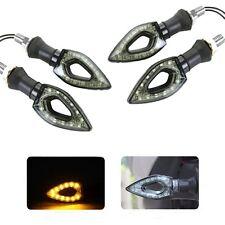 X4 FRECCE MOTO UNIVERSALI 12 LED SMD INDICATORE DIREZIONE LAMPEGGIANTI 12W LUCI