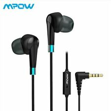 Mpow Wired Headset 3.5mm Jack Earphone Stereo Headphones Earbuds For iOS Android