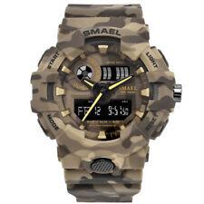 Military Mens Quartz  Big Face 12/24H Waterproof Chronograph Sport Digital Watch