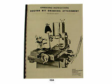 Foley Belsaw  357510 Router Bit  Attachment Operating & Parts List  Manual *1104