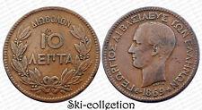 10 Lepta 1869 BB, Grèce / Greece. George I°. Cuivre/ Copper