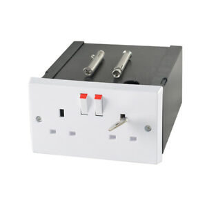 Imitation Double Plug Socket Wall Safe Security Secret Hidden Stash Box NEW LOCK