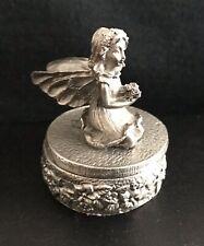 Pewter Fairy Fairies Wings Mystical Trinket Stash Tooth Silver Metal Figurine