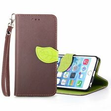 NEW XUNDD Leaves Buckle PU Leather Carrying Case with Stand iPhone 6 Brown/Green