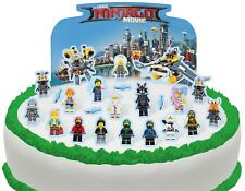 Cakeshop PRE-CUT Lego Ninjago Movie Edible Cake Scene - 24 pieces