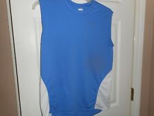 Nike Fit Men's Blue White Sleeveless Athletic Shirt Size Large L