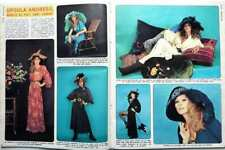 URSULA ANDRESS top model for YVES SAINT LAURENT => 2 pages 1974 Spanish CLIPPING