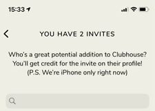 Clubhouse (iOS App Only) Einladung - Invite