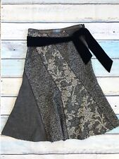 Adolfo Dominguez Skirt sz 44 Gray Wool Blend Japan