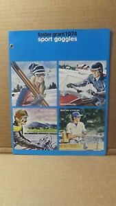 74 Foster Grant Sport Goggles Brochure Sunswingers Snowmobile Motorcycle Boating