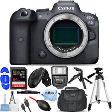 Canon EOS R6 Mirrorless Digital Camera (Body Only) + 64GB + Flash Bundle