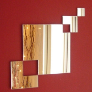 Square Chain Mirrors (Acrylic Shatterproof Mirrors, Several Sizes Available)