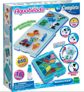 AQUABEADS - Starter Set - Sea Life Set - Zoo Life Set - Mini Sparkle Pack