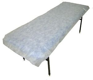 Disposable Table Sheets Fitted Massage Beauty Non Woven 210cm x 80cm Pk10