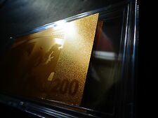 24 KARAT GOLD 200 EURO €-2002 European Union MONEY *BILL COMES IN ACRYLIC HOLDER