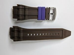 Invicta Watch Band Strap Brown Polyurethane for model 11944