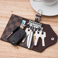 Men Women Genuine Leather Car KeyChain Card Holder Wallet Case key Organizer Bag