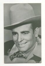 Paul Parry 1940's 1950's Salutations Cowboy Exhibit Arcade Card