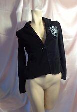 Morphine Generation Gorgeous Black Velvet Blazer Size S NWOT