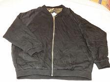 Kendall & Kylie Womens Juniors Reversible Jacket Black Camo S sm bomber coat *^