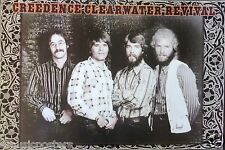 """CREEDENCE CLEARWATER REVIVAL """"CLASSIC GROUP STANDING"""" ASIAN POSTER -John Fogerty"""