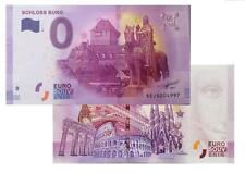 Schloss Burg 2017-1 Null Euro Souvenirschein | € 0 Euro Souvenir Schein Billet