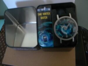 Doctor Who Time Vortex TARDIS Watch Quartz 38 mm BBC Official -NEEDS NEW BATTERY