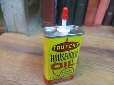 TRU-TEST HOUSEHOLD MACHINE OIL can HANDY TRUE VALUE SEWING TIN 4 OZ GUN REEL