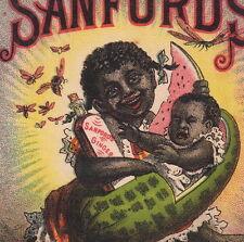 Black Sandfords Ginger Malaria Cure Medicinal Brandy Watermelon Baby Bee Ad Card