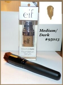 NIB e.l.f. Beautifully Bare Foundation Serum  FREE SHIP + FREE GIFT  Medium/Dark