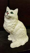Royal Doulton Large White Persian Cat Excellent État Libre p&p