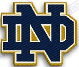 NOTRE DAME FIGHTING IRISH  iron on embroidery PATCH COLLEGE UNIVERSITY SPORTS !!