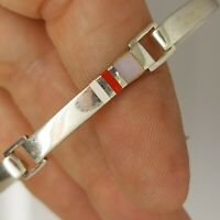 Solid Sterling silver 925 bracelet bangle 8 inches plain pattern  Az322-13.
