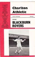 Charlton Athletic v Blackburn Rovers 1966/7