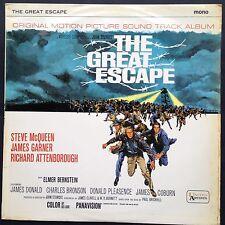 Elmer Bernstein THE GREAT ESCAPE cult soundtrack LP '63 Steve McQueen UK UA mono