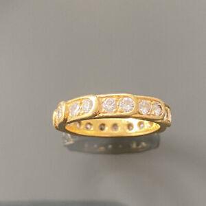ANTIQUE 18CT GOLD DIAMOND ETERNITY RING