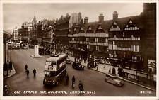 Holborn, London. Old Staple Inn # G9575 by Valentine's. Trolley Bus.