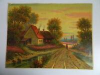 Gravur farbig Kitschbild Malerei unterzeichnet carlo Hornung-jensen Anfang 1900