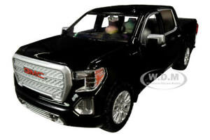2019 GMC SIERRA 1500 DENALI CREW CAB PICKUP TRUCK BLACK 1/24-1/27 MOTORMAX 79362