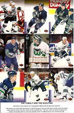 1995-96 UD Upper Deck Hockey Hartford Whalers Complete Team Set (17)