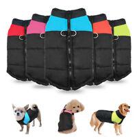Dog Winter Coat Waterproof Warm Clothes Jacket Outdoor Windproof 5 Colors S-7XL