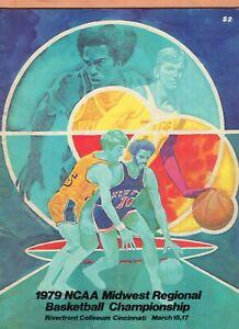 1979 NCAA Midwest Regional Basketball Championship Program  Larry Bird, Moncrief