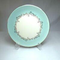 Lifetime China Gold Crown Dinner Plate Gold Tone Trim Swirl Pattern